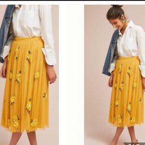 Anthropologie Maeve posey sequin skirt 12